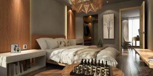 красива спалня с гардероб